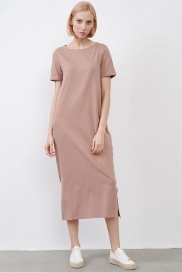 Платье Paula с поясом бежевое