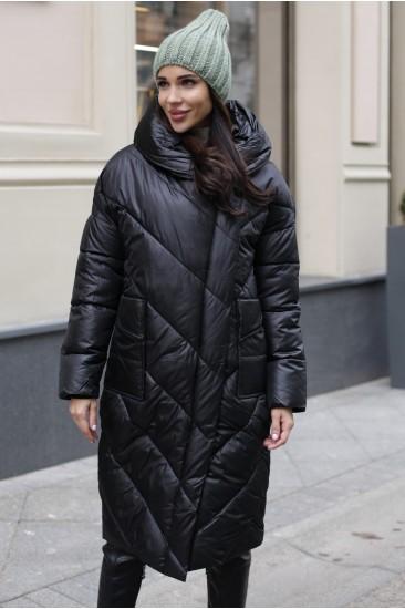 Пуховик одеяло 2020 черный 01