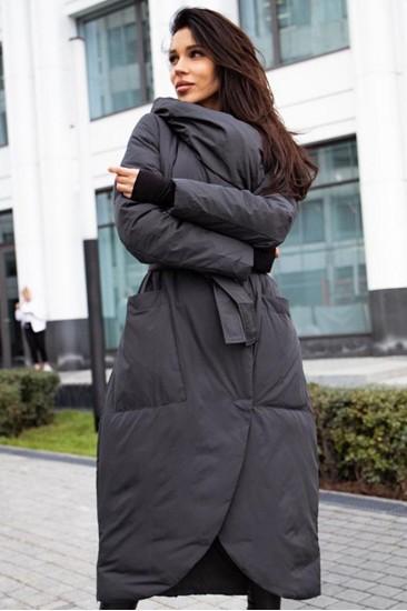 Пуховое пальто Bilissimo хаки