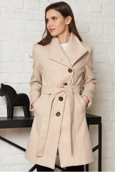 Шерстяное пальто Damgarder бежевое