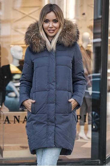 Пуховик женский Ice Yee 2020 серый