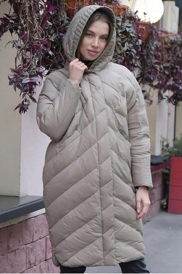 Пуховик-одеяло  Ar бежевый