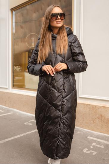 Пуховое пальто Stem удлиненное, черное