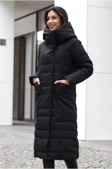 Пальто модель Шарли цвет черный