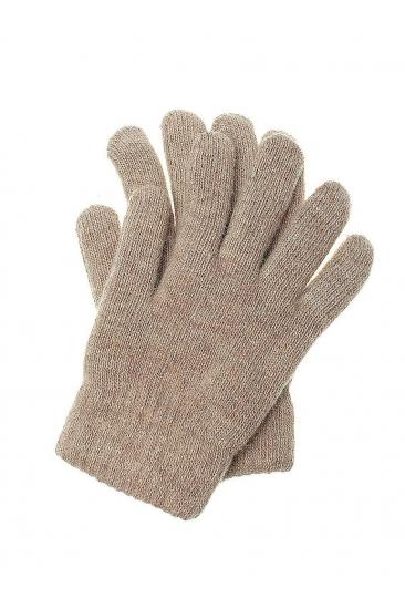 Бежевые перчатки из ангоры