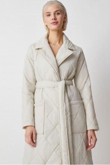 Стеганое пальто Berhta, молочный