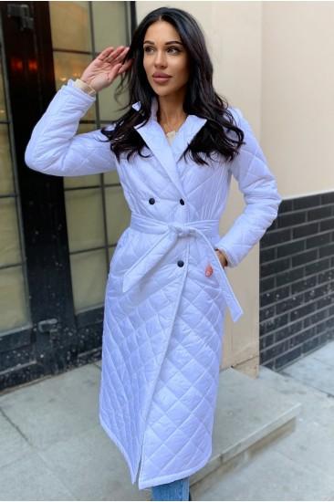 Стеганое пальто Damgarder с карманами белое