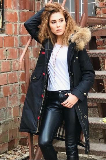Пальто женское, зимнее, длинное на синтепоне
