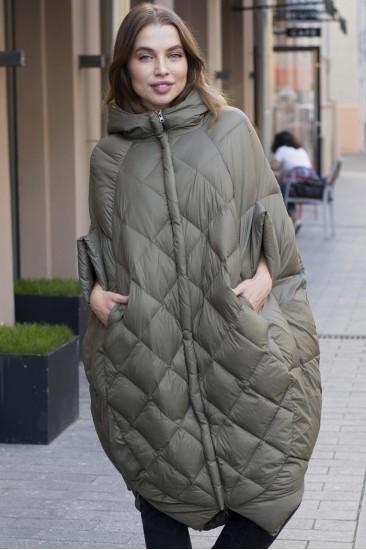 Женский пуховик одеяло Laplin хаки