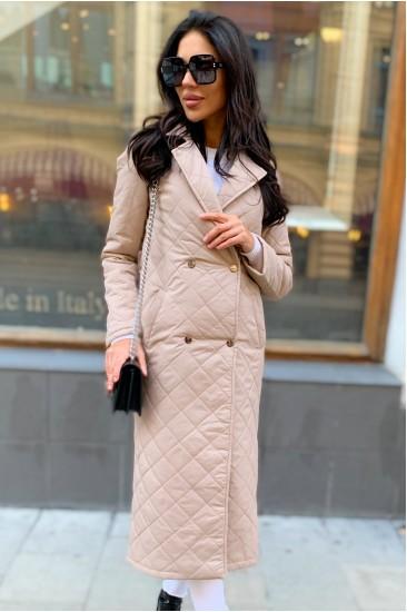 Стеганое пальто Damgarder с карманами молочное