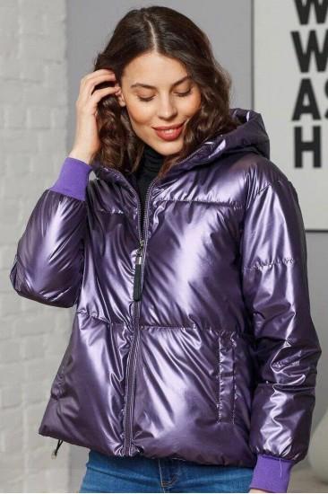 Куртка глянцевая Damgarder фиолетовая