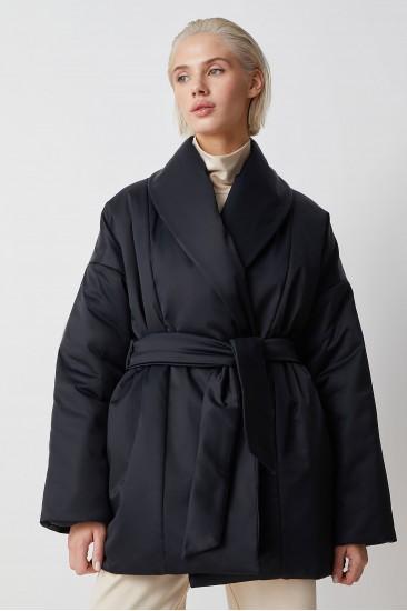 Куртка с поясом Ava, черный