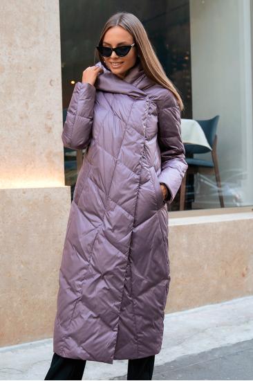 Пуховое пальто Stem удлиненное, лаванда
