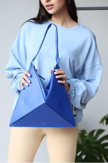 Складная сумочка-тоут оригами Tina Ультрамарин Синяя