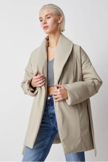 Куртка с поясом Ava, беж