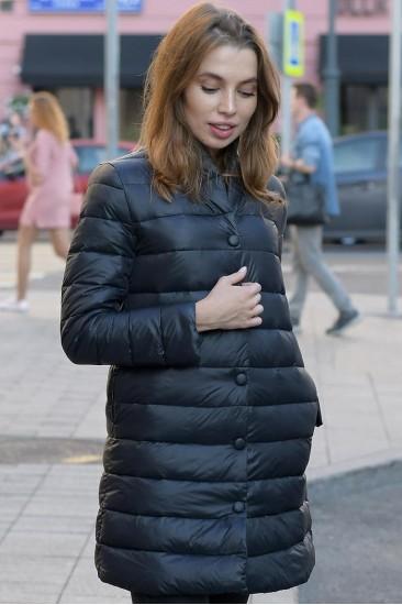 Пуховой удлиненный пиджак Marina Yachting черный