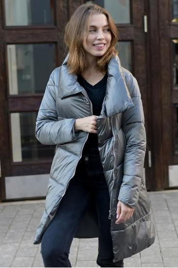 Женская зимняя куртка Laplin серый
