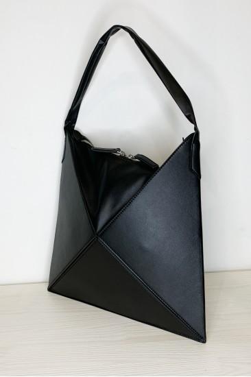 Складная сумочка-тоут оригами Tina Черная