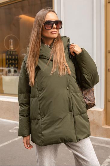 Пуховая куртка с поясом Jo хаки