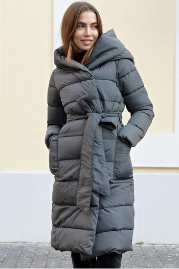 Пальто на синтепоне Ar серое