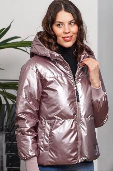 Куртка глянцевая Damgarder розовая