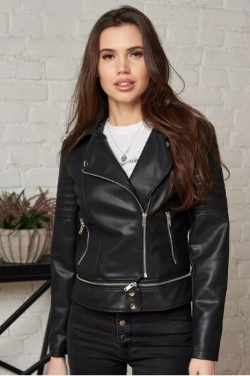 Короткая куртка Damgarder из эко-кожи черная