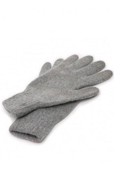 Серые перчатки из ангоры