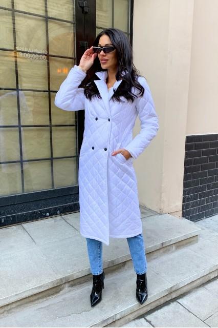 Damgarder Стеганое пальто с карманами белое
