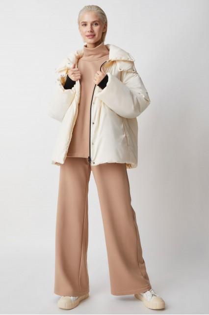 Куртка молочный без прострочки без капюшона Sheryl