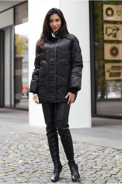 Куртка черная оверсайз