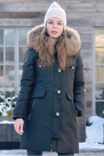 Женская зимняя парка Br черного цвета