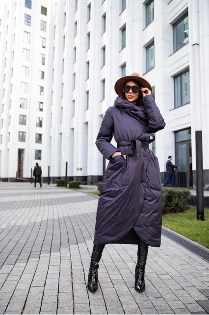 Пуховое Bilissimo серое пальто