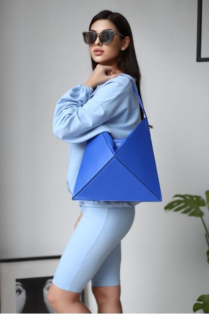 Cумочка-тоут оригами cкладная  Tina Ультрамарин Синяя