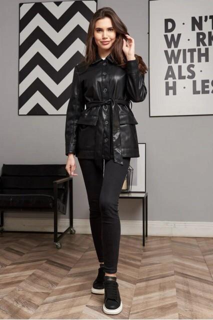 Damgarder Куртка из эко-кожи черная