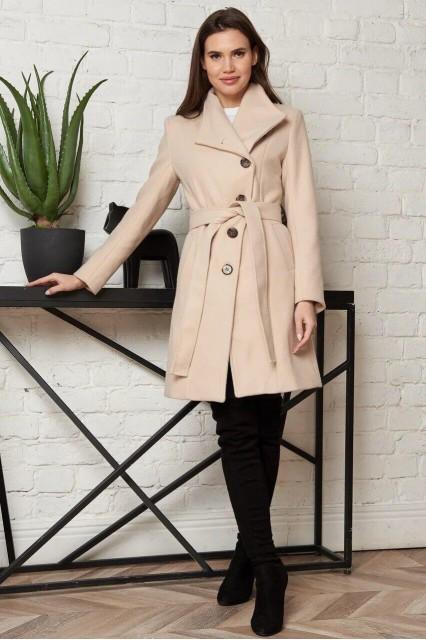 Damgarder шерстяное пальто бежевое