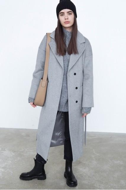 Patti Пальто серого цвета