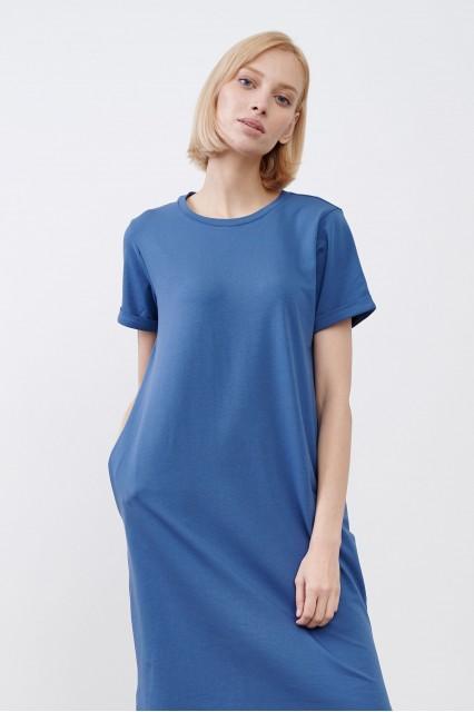 Платье синее JUL
