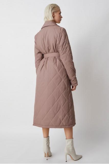 Пальто стеганое Berhta, древесный дым