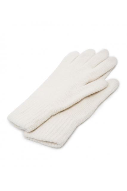 Белые перчатки из ангоры
