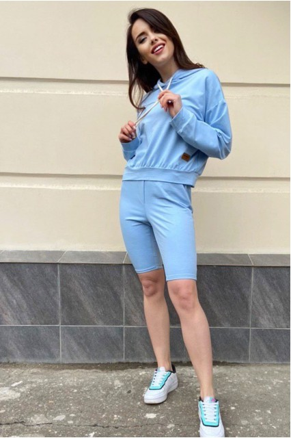 Толстовка Damgarder с велосипедками  синего цвета