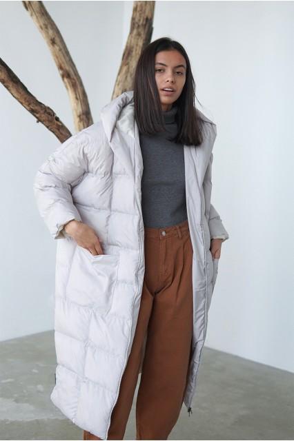 Пуховик Mi-mi бежевый одеяло