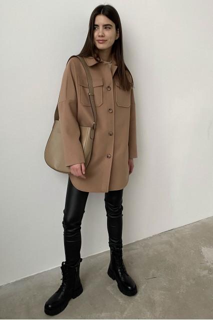 Пальто London рубашка цвет кемл