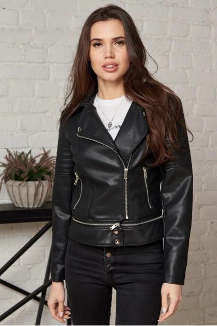 Damgarder Короткая куртка из эко-кожи черная