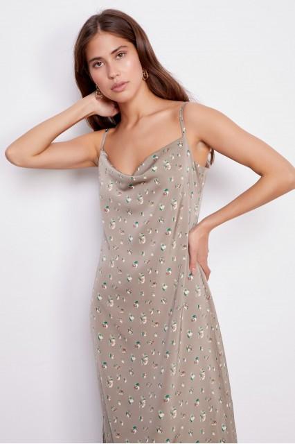 Платье серо-бежевое Verginia