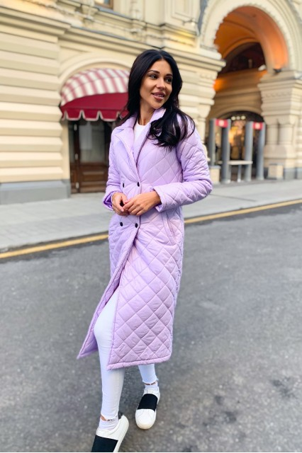 Damgarder Стеганое пальто с карманами лаванда