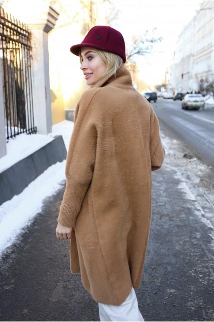 Пальто из ангоры цвет кемл