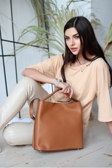 Emili шоппер коричневый