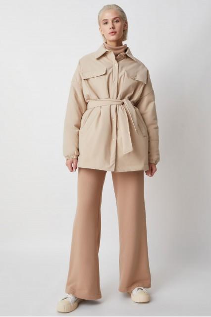 Куртка-рубашка беж Amanda