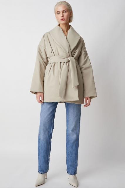 Куртка беж с поясом Ava