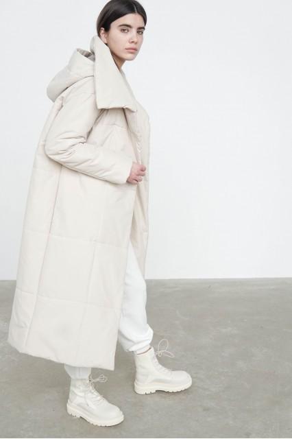 Пальто  весеннее Nancy молочный